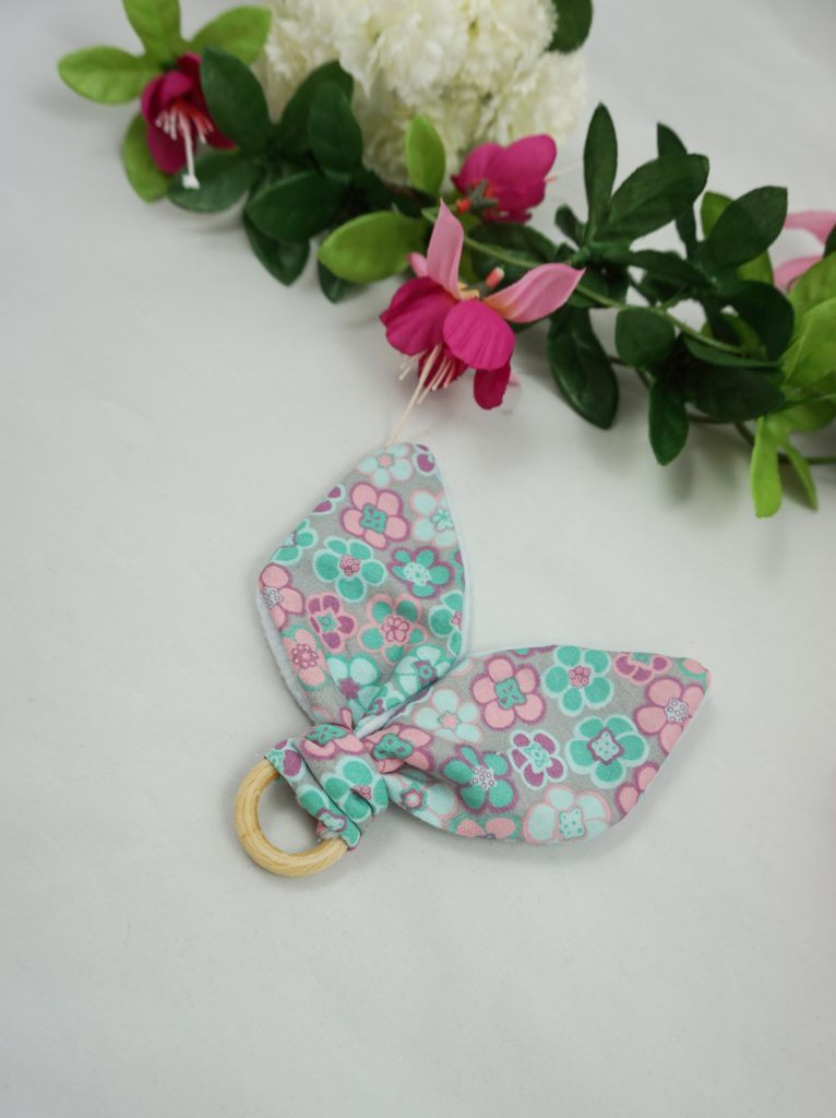 anneau dentition coton fleurs polaire