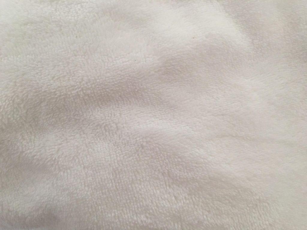 Micro éponge blanc coton