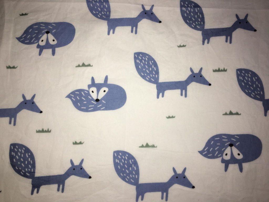 coton blanc renards bleus