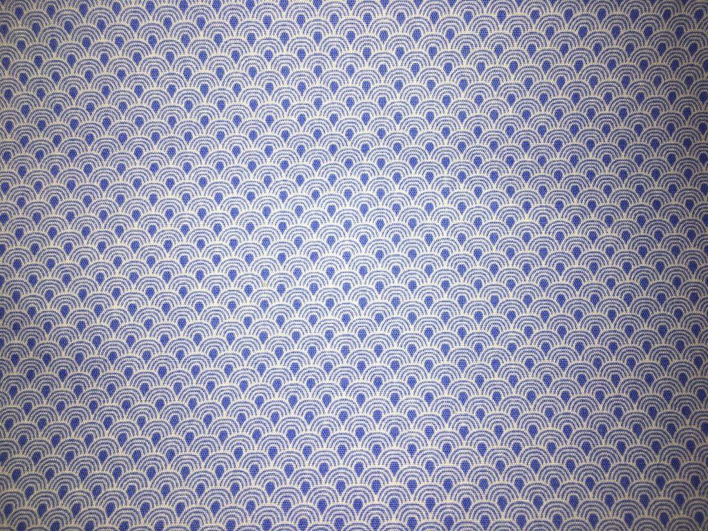 coton bleu avec motifs