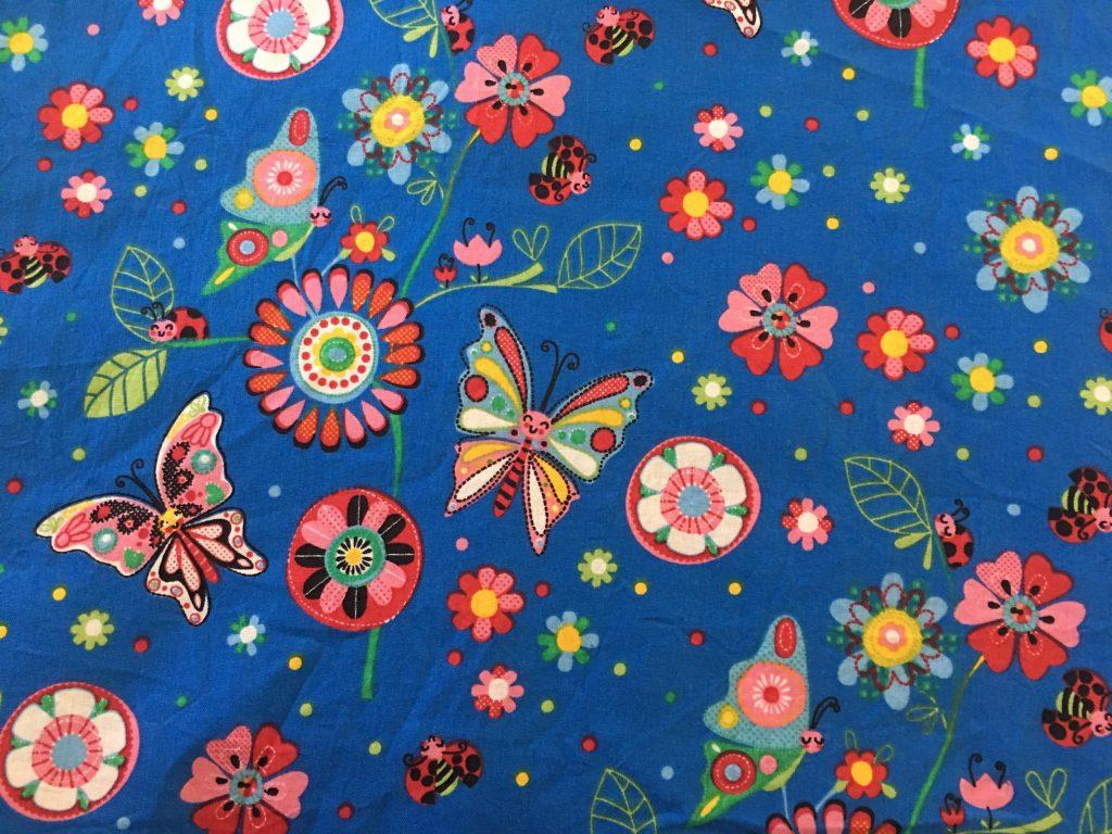 coton bleu insectes, fleurs