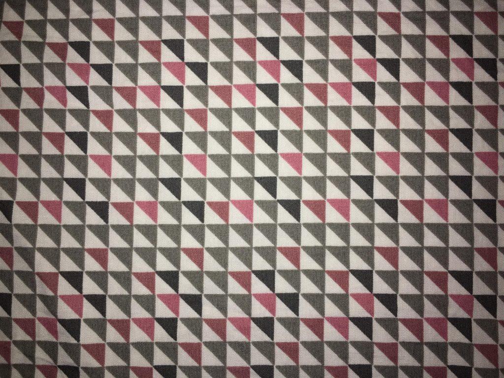 coton carreaux gris, noir, rose