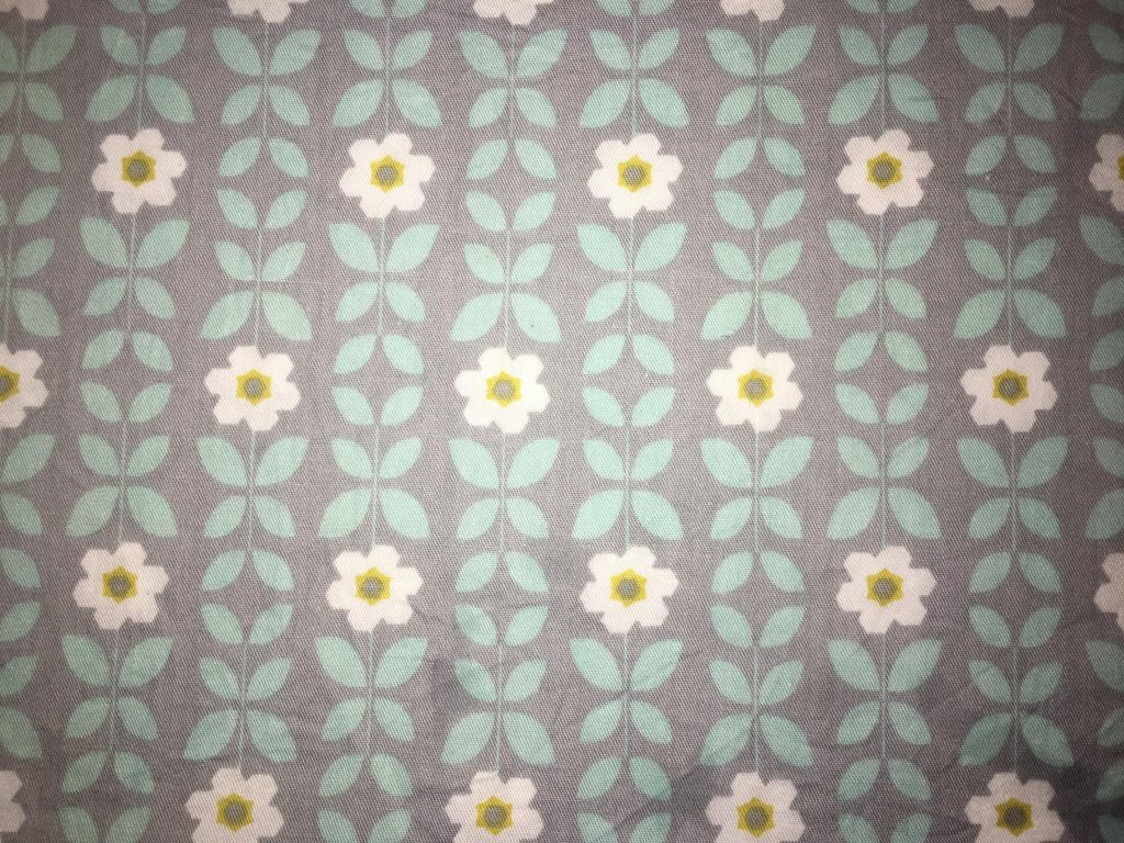 coton gris fleurs