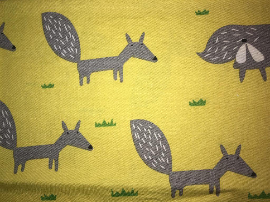 coton jaune renards gris