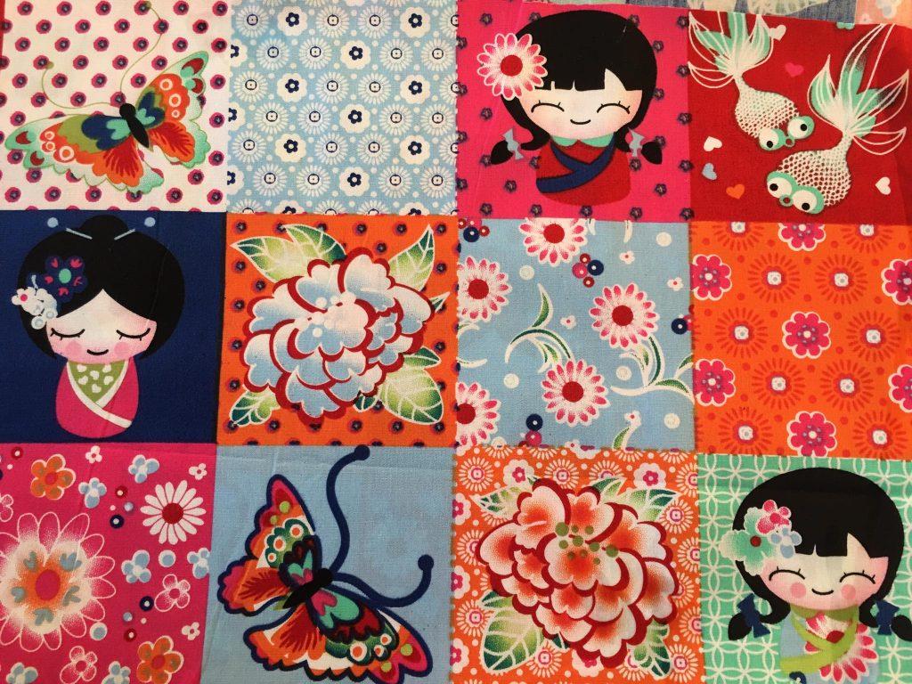 coton motifs asiatiques