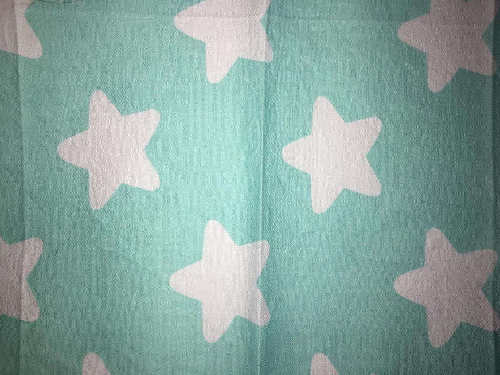 coton turquoise étoiles