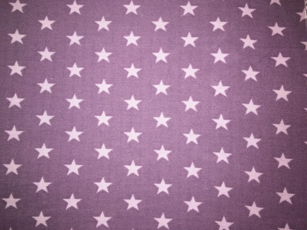 coton violet étoiles