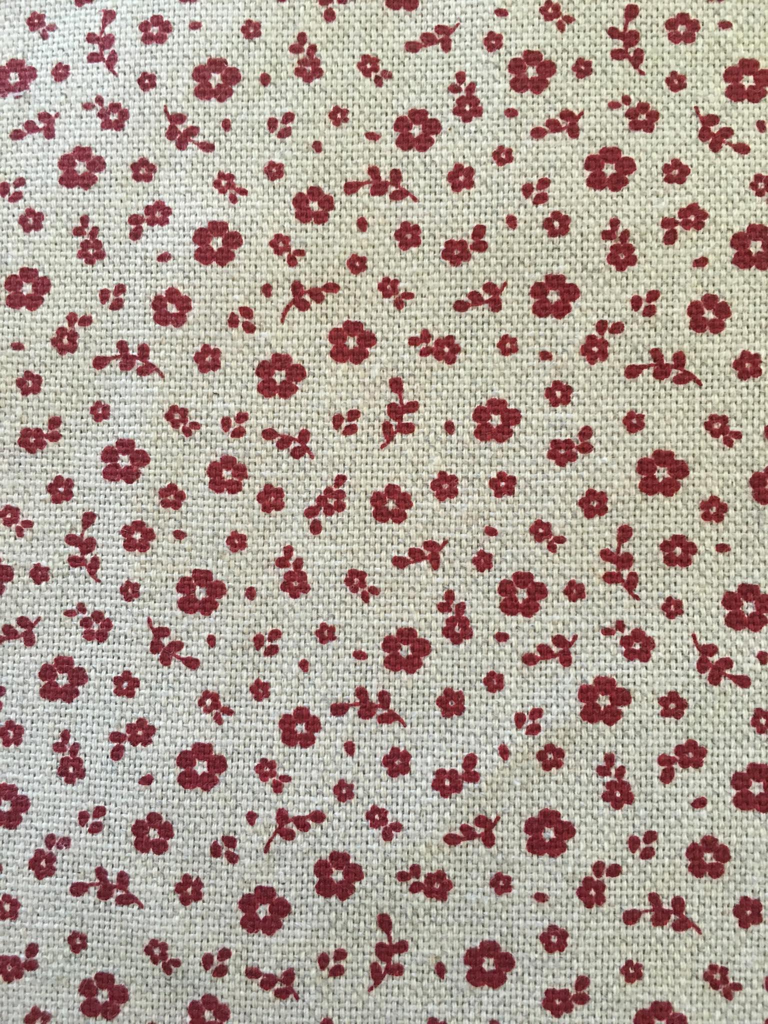 polycoton aspect lin beige fleurs