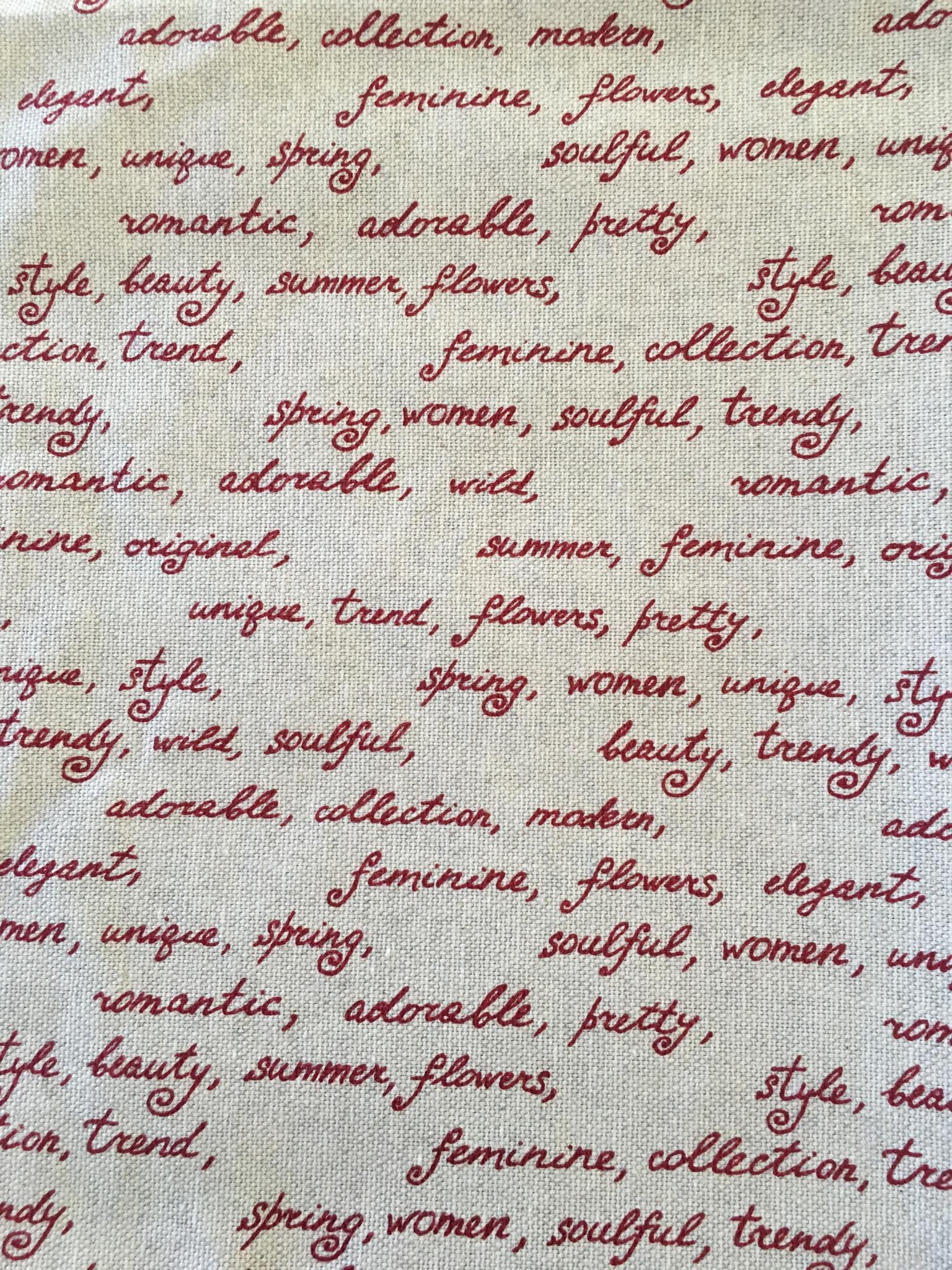 polycoton aspect lin gris écriture