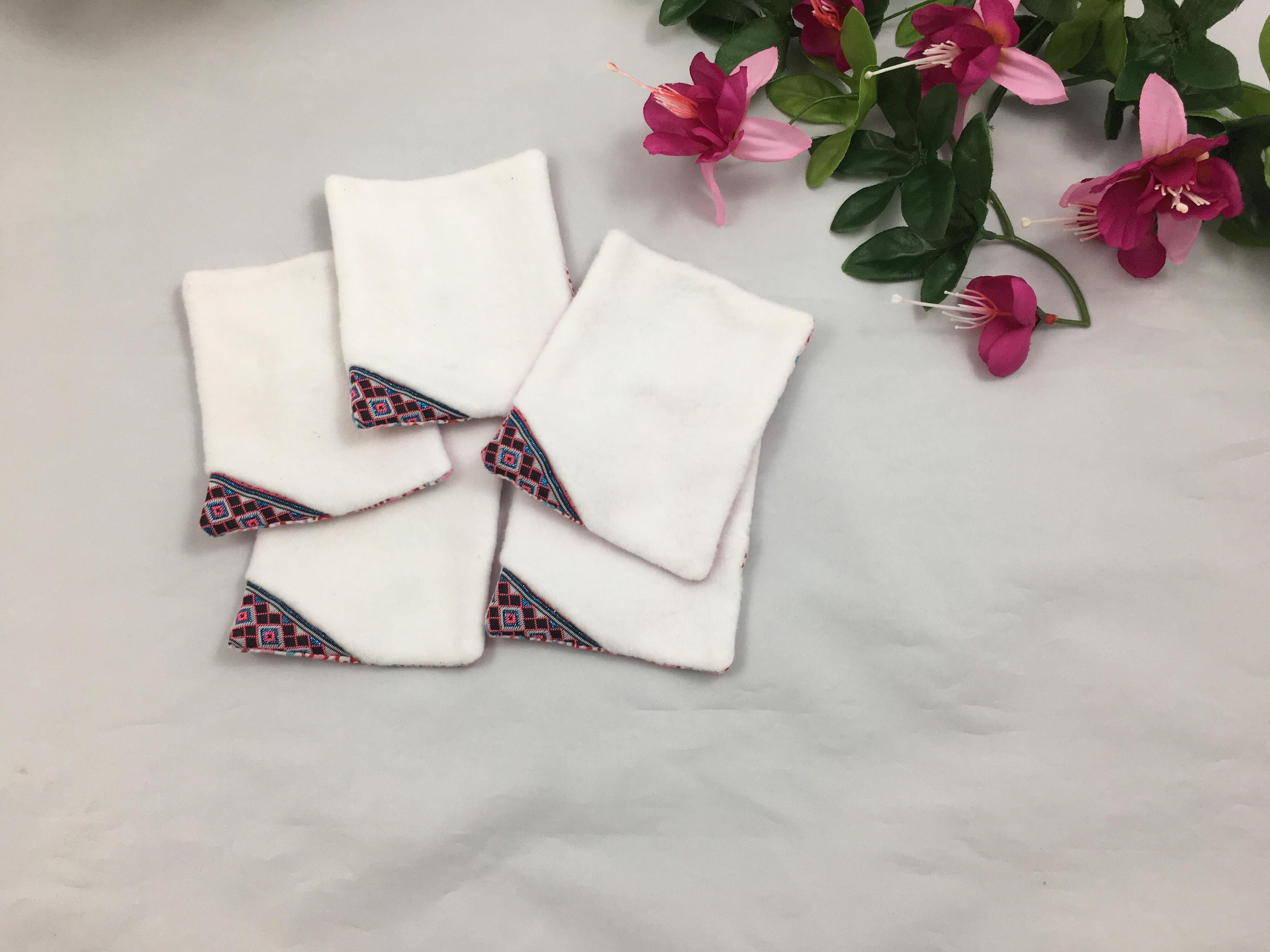Lingettes rose motifs 7