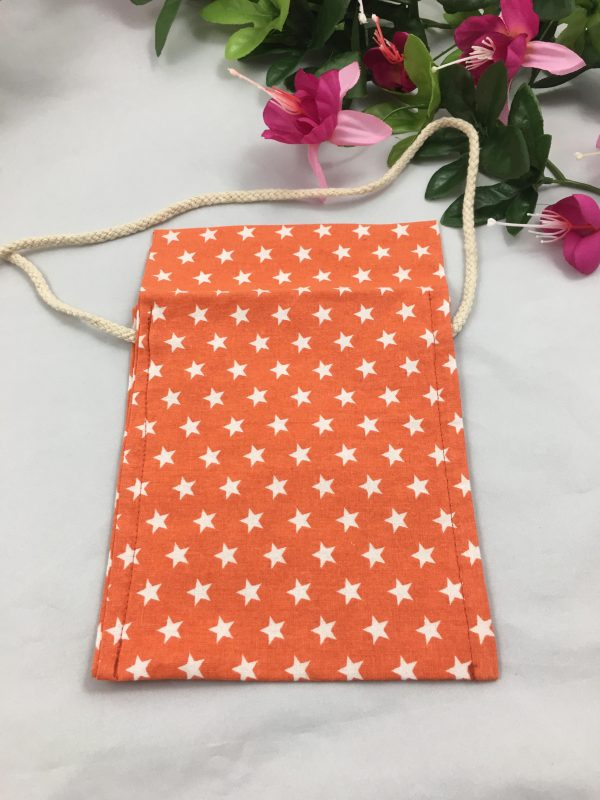 Besace orange étoiles blanches 4