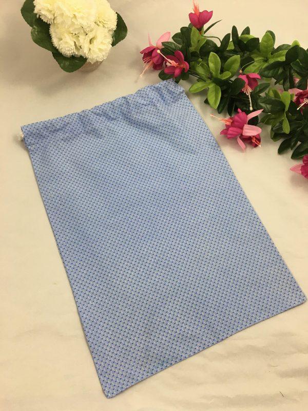 Pochon gris point bleu 5