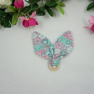anneau dentition fleurs coton polaire