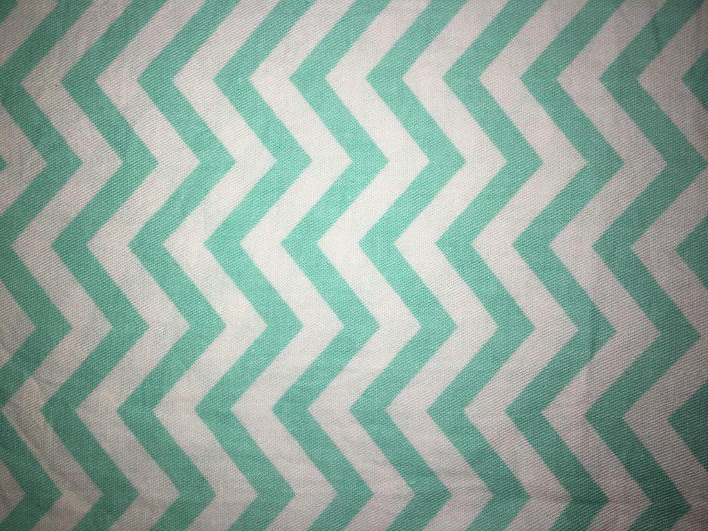 coton blanc vert rayures