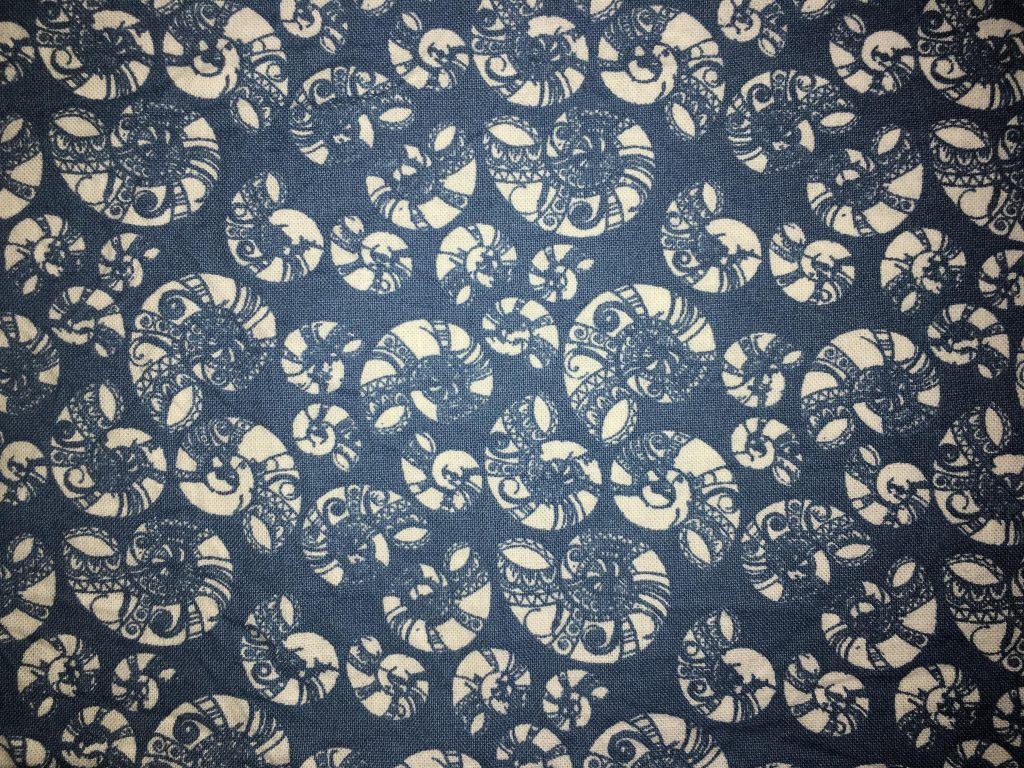 coton bleu coquillages