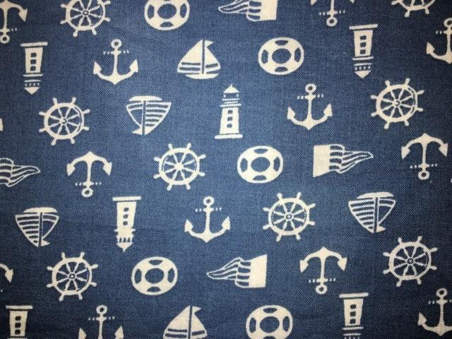 coton bleu mer