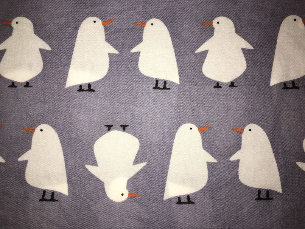 coton gris pingouins