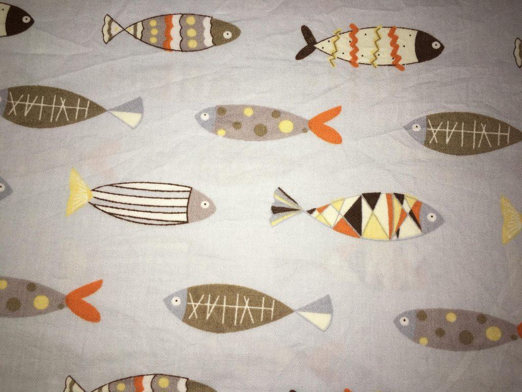 coton gris poissons