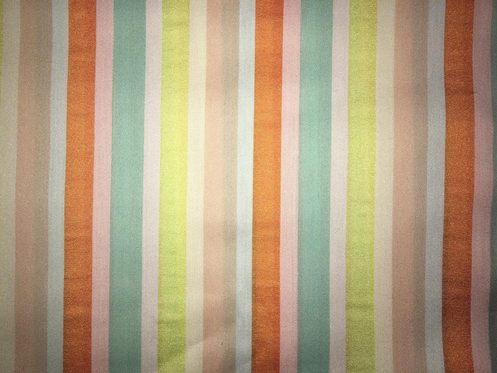 coton multicolore lignes