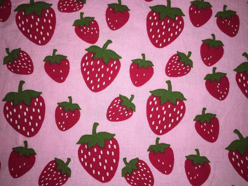 coton rose avec fraises