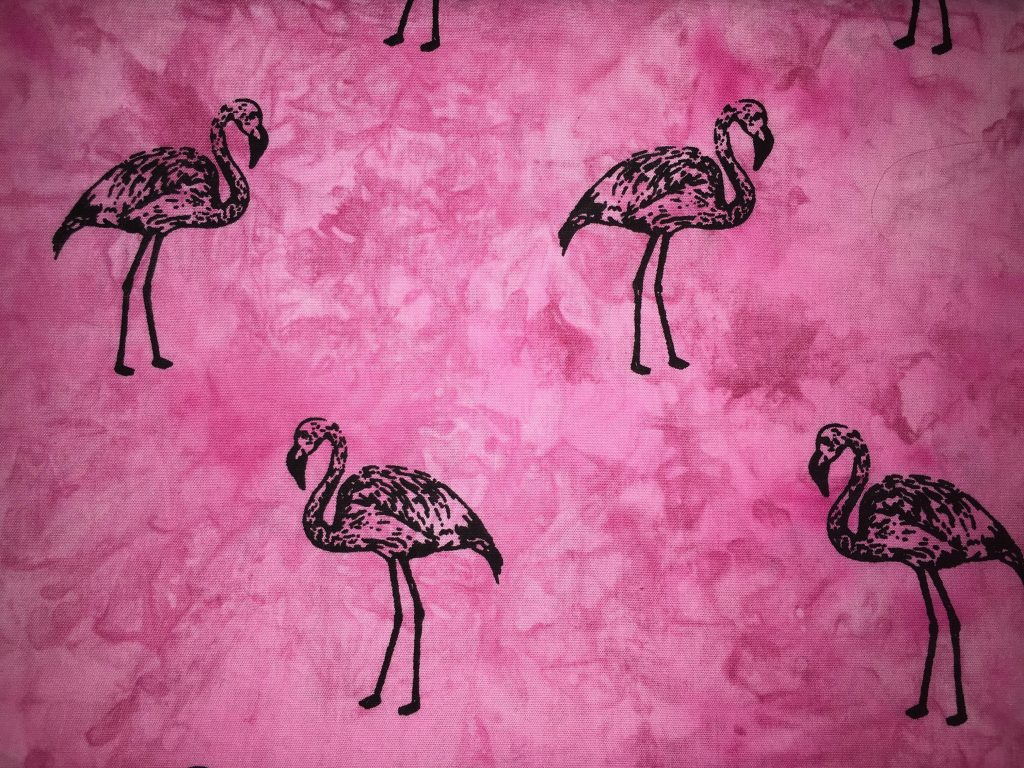 coton rose flamants