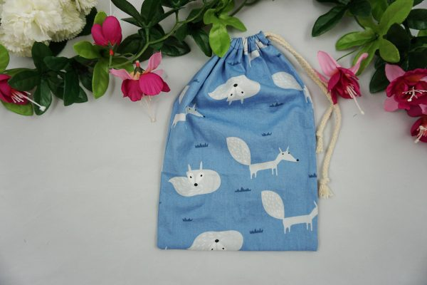 pochon sac coton renard cordelette