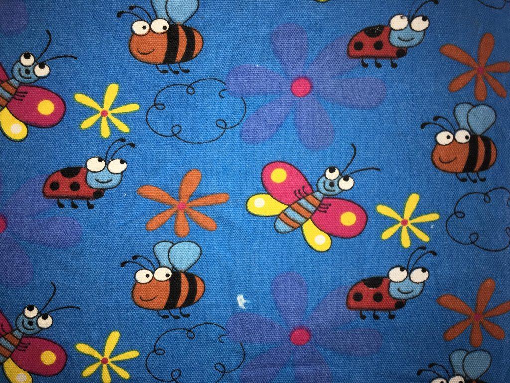 coton bleu insectes fleurs