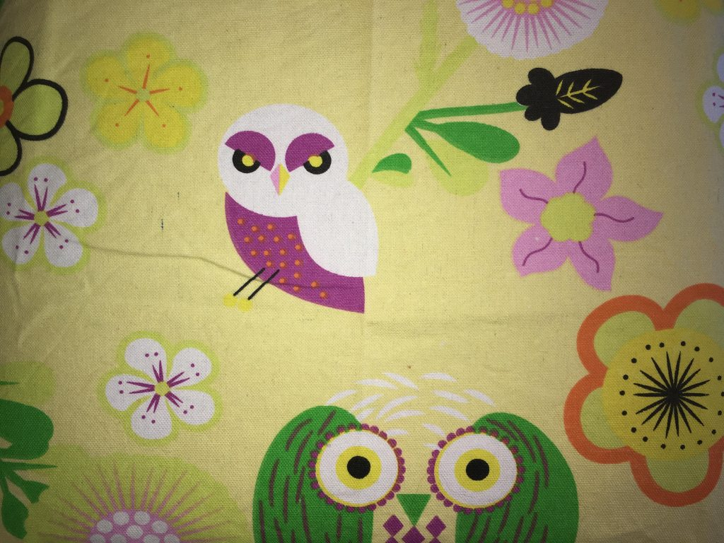 coton jaune fleurs oiseaux