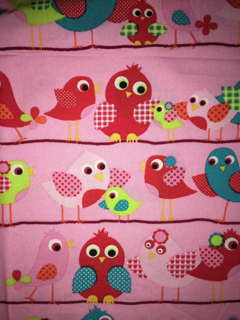 coton rose oiseaux